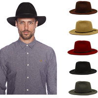 Wholesale Fashion Wool Summer Women s Men s Crushable Genuine Felt Fedora Bush Sun Hat Trilby Gorra Toca Sombrero with leather band