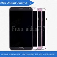 Wholesale For Samsung Galaxy Note N900 N9005 N900K N900L N900S N900A N900T N900V LCD Display Touch Screen Assembly Replacement with frame