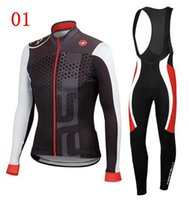 jersey - 2014 New Arrival Cycling Jersey Sets Black Blue Red Long Sleeve Winter Autumn Bib Set Cyclling Jerseys High Elastic Warmer Men Bicycle Cloth