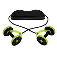 Wholesale Portable Sports AB Wheel Double AB Roller Fitness Abdominal Exercises Equipment Lightweight Abdominal Waist Slimming Equipment