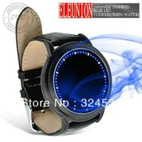 abyss touch screen watch - New Brand Abyss Inspired Blue LED Touch Screen Soft Leather Fashion Watch Soft Leather Strap Black