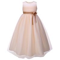 big girls formal dresses - Pettigirl Retail Big Girl Mermaid Wedding Dresses With Flower Sash Grace Kids Ball Gown With Pearls Children Party Wear GD81204