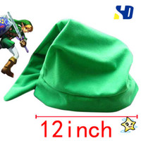 Wholesale The Legend of Zelda New Halder Hat Cartoon Cotton Xmas Gift Figure Costume Caps Green Cosplay
