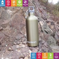 stainless steel double wall bottle - Sports thermos Double Wall Vacuum Insulated Stainless Steel Water Bottle with carabiner narrow mouth