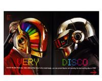 best modern punk - Best Selling x75CM Wall decals Art Poster Daft Punk Helmets Pop Music Print Poster
