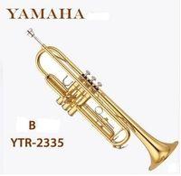 Wholesale Pengiriman gratis ube terompet Instrumen profesional YTR2335 tembaga alat cat emas penurunan B terompet