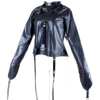 adult fancy costumes - Womens Straitjacket Faux Leather Strict Bondage Kinky Fancy Straight Jacket Fetish Costumes Sex Bondage Training Adult Sex Toys