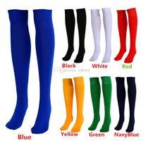 Wholesale New Arrivals Men Women Adults Sports Socks Football Plain Color Knee High Cotton One Size PX252