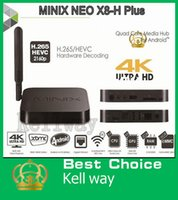 Wholesale MINIX NEO X8 H Plus x8h x8 h Amlogic S812 Quad Core Android Google TV box GB GB K H XBMC IPTV Smart MINI PC Free A2 air mouse