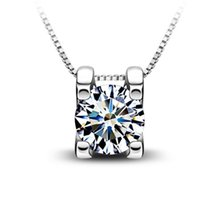 jewelry china - Top quailty A A A hot sell sterling silver zircon pendant necklace girls silver pendants necklace for women necklace jewelry DD004