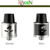 bear totem - Original Smy Totem RDA Atomizer DIY Post Rebuidable Dripping Atomizer With Peek Insulator Wide Bore Drip Tip Thread Black SS Color