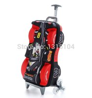 Wholesale Child trolley bags F1 racing D cartoon stereo stair climbing rod box board box suitcase