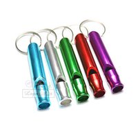 Wholesale High quality survival whistle metal material can be free custom logo under the keychain to participate in outdoor activities