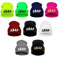 beanie hat - Winter Beanie Hats For Women ASAP Knitted Warm Touca Wool Caps Hip hop Skullies Hats For Men