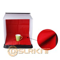 Wholesale 40x40cm Square Photography Light Studio Foldable Softbox Soft Box With White Blue Black Red Background Set