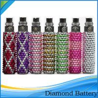 ego bling - New Arrival Bling Bling Diamond Battery Crystal Shinning Diamond Battery eGo Battery mAH fit for CE4 CE5 MT3 Protank X6 X9 Atomizer