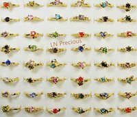 Wholesale jewelry ring WOMENS RINGS rhinestone fashion K k gold Plated Rings New LR119