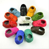 Wholesale Lovely Baby Moccasins Kids Infant Shoes Leather Moccs Baby Girl Boy Shoes Christmas Gift BB282