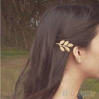 Wholesale Mix pc Fashion Lovely Leaves Golden Metal Punk Hairpin Hair Clip JBU