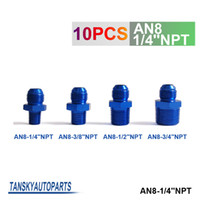 Wholesale Tansky unit Oil cooler fitting blue For Universal With No Logo have in stock AN8 NPT