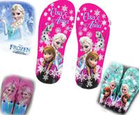 Wholesale Children card Flip flops Frozen ELSA ANNA sandals Sandals Household shoes yards sale hot outlets drop shipping pairs