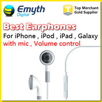Wholesale iPhone s Earphones Headset with Remote Mic and Volume Control for iPhone Samsung HTC SONY LG cell phone Earphones Headphones