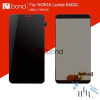 оптовых touch screen for nokia-Оптово-Original новое для Microsoft Nokia Lumia 640XL ЖК-дисплей с сенсорным экраном дигитайзер с 9 в 1 Ремонт Открытие Инструменты Набор 110419