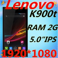 t-mobile cell phones - Lenovo K900 T Original Cell Phones MTK6592 Octa Core Mobile Phone quot MP Android GSM WCDMA G celular pk huawei ascend p7