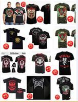 Wholesale MMA Short sleeved T shirt muay thai clothing mma men boxing clothing tiger muay thai fight shorts pretorian mma short