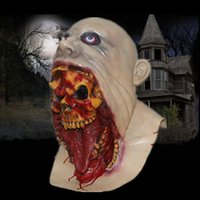 Wholesale Hot selling devil Mask Halloween Full head Mask Latex Creepy Scary mask horror monster mask All Saints Day free
