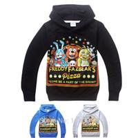 Wholesale Winter Boys Hoodies Sweatshirts FNAF Children s Clothing Shirt Five Nights at Freddys Hoodie Sudaderas Ninos of Years