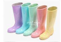 b d tubes - Style wome beautiful rain boots new fashion high tube diamond lattice non toxic good texture good permeability has five colors