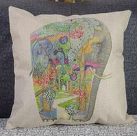 Wholesale Colorful Animal burlap pillow covers sofa seat cushions Cover Home Office decorative pillow covers