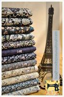 Wholesale 12pcs sea Navy porcelain Bundles home Textiles Cotton Poplin fabric cotton fabric material meter for sewing Patchwork