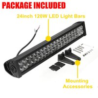 Wholesale New Inch V W LED Light Bar Spot Flood Combo OffRoad ATV SUV Boat Work Lamp order lt no track