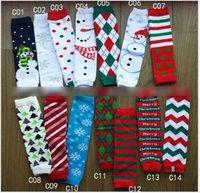 baby gifts legs - Christmas Gift Baby Socks Leg Warmers Knee Crochet Snowflower Tree Children Legging Kids Toddler High Socks Stocking Pairs K6057