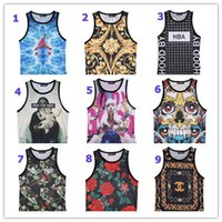 Cheap Men 3D Vest Best Cotton Blend Animal Print men vest