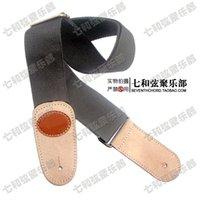Wholesale Black CM length canvas folk guitar suspender folk guitar strap electric bass brace