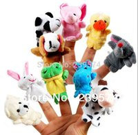 Cheap 10 pcs lot, Baby Plush Toy  Finger Puppets Tell Story Props(10 animal group) Animal Doll  Kids Toys  Children Gift