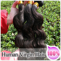 Brazilian Hair virgin hair extensions - Premium Quality A Brazilian Peruvian Indian virgin hair Extensions Human Hair Weave Body Wave NO Tangle NO Shedding B Color
