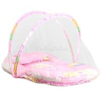Wholesale Baby Cradle Bed Mosquito Insect Net Infant Cushion Mattress Cute Pillow K5BO