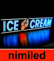 led box sign - Ice Cream Light Box Sign LED Neon Alternative HSA1793