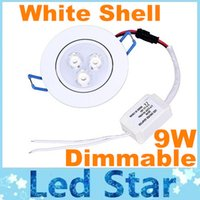 led ceiling light - Hot Sales CREE W X3W Dimmable Led Downlights Ceiling Light White Shell Angle LM Led Down Lights Warm Natrual Cool White AC V