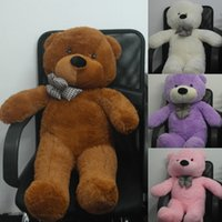 Wholesale Hot Fashion Teddy Bears Brown Pruple Ivory Pink Stuffed Big Bear Embrace Animal Kids Adults Gifts Size cm