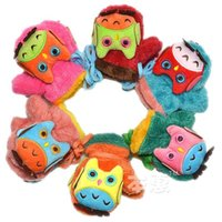 Wholesale Owl Cartoon Autumn Winter Children Baby Gloves Baby Mittens For Kid Girl Boy Gloves Keep Warm