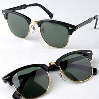 Glass aluminium sunglasses - 3507 aluminium magnesium sunglasses N5 black green mm sunglasses for men uniex sun glasses half frame sunglasses freeshipping