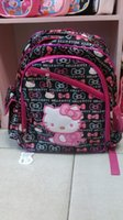 Wholesale new design children s cartoon school bag shoulder bag backpack with printing cartoon picture hello kitty