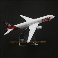 airlines brazil - cm Alloy Metal Brazil AIR TAM Airlines Boeing B777 Airways Airplane Model Plane Model W Stand Aircraft Toy Gift