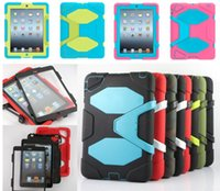 ipad accessories - DHL FREE Extreme Military Survival silicone Heavy Dust Shock Proof Case Cover With stand holder For for iPad mini air air2