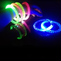 Wholesale LED Flash Glow stick Fluorescent Bracelets for Concert LED light Sticks DIY gift toys Halloween Celebration Festivities Bracelet HOT8